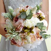 Stoff Hand Blumenstrauß, Hochzeitsgeschenk, 200x100mm, verkauft von PC