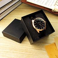 Uhr Schmuckkasten, Papier, mit Schwamm, Rechteck, keine, 85x80x55mm, verkauft von PC