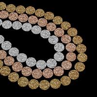 Buddhistische Perlen, Non- magnetische Hämatit, flache Runde, plattiert, buddhistischer Schmuck, keine, 8.5x3.5mm, Bohrung:ca. 1mm, ca. 46PCs/Strang, verkauft per ca. 15.5 ZollInch Strang