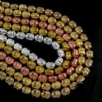 Buddhistische Perlen, Non- magnetische Hämatit, Buddha, plattiert, buddhistischer Schmuck, keine, 8.50x10x7mm, Bohrung:ca. 1mm, ca. 40PCs/Strang, verkauft per ca. 15.5 ZollInch Strang