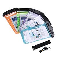 PVC Kunststoff Wasserdichte Handytasche, mit elastische Nylonschnur, Für Mobiltelefon unter 6 Zoll, keine, 120x210x1mm, Länge:ca. 10.5-18 ZollInch, verkauft von PC