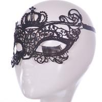 Spitze Gothic Mask, unisex, schwarz, 23cm, verkauft von PC