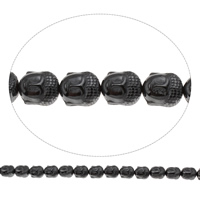 Buddhistische Perlen, Non- magnetische Hämatit, Buddha, buddhistischer Schmuck, 8.50x10x7.50mm, Bohrung:ca. 1mm, ca. 39PCs/Strang, verkauft per ca. 15.5 ZollInch Strang