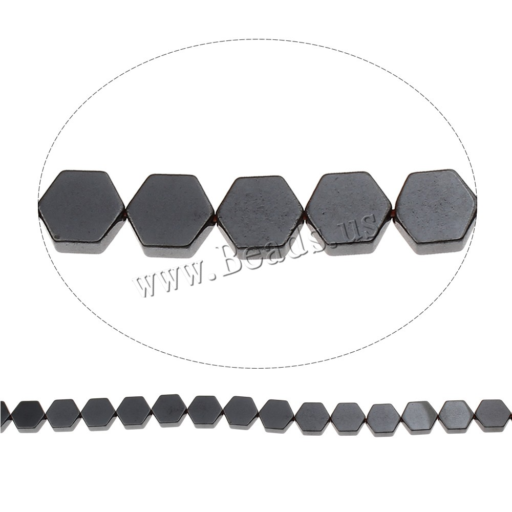 Buy Non Magnetic Hematite Beads Hexagon 7.50x8.50x2mm Hole:Approx 1mm Approx 46PCs/Strand Sold Per Approx 15.5 Inch Strand
