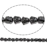 Buddhistische Perlen, Non- magnetische Hämatit, Buddha, buddhistischer Schmuck, 8x7.50x7mm, Bohrung:ca. 1mm, ca. 51PCs/Strang, verkauft per ca. 15.5 ZollInch Strang