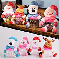 Kunststoff mit Plüsch, Weihnachtsschmuck & verschiedene Stile für Wahl, 160x170mm, verkauft von PC