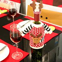 Stoff Weihnachten Wein Bag, mit Plüsch, Weihnachtselch, Weihnachtsschmuck, 160x120mm, verkauft von PC