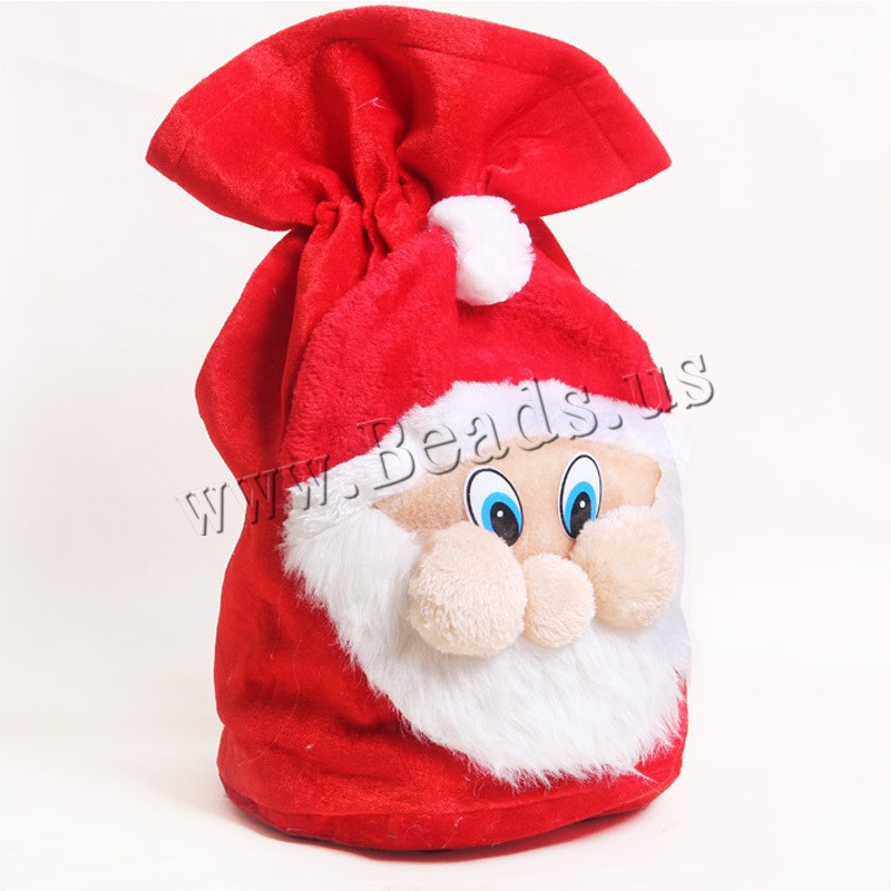 Buy Christmas Gift Bag Velveteen Santa Claus Christmas jewelry 500x370mm Sold PC