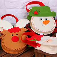 Weihnachtsgeschenkbeutel, Nichtgewebte Stoffe, Weihnachtsschmuck & verschiedene Stile für Wahl, 150x50x210mm, verkauft von PC