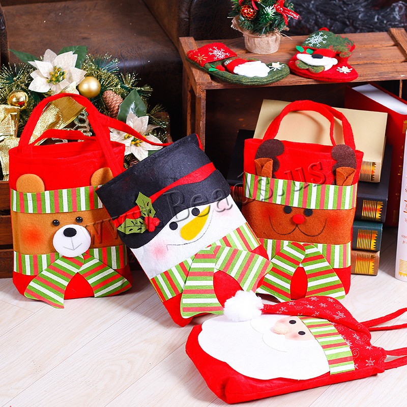 Buy Christmas Gift Bag Non-woven Fabrics Plush Christmas jewelry & different styles choice 400x210mm Sold PC