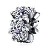 kommen on® Schmuck Beads, Thailand, Blume, verschiedene Verpackungs Art für Wahl & Micro pave Zirkonia & ohne troll, 6x9mm, Bohrung:ca. 4.5-5mm, verkauft von PC
