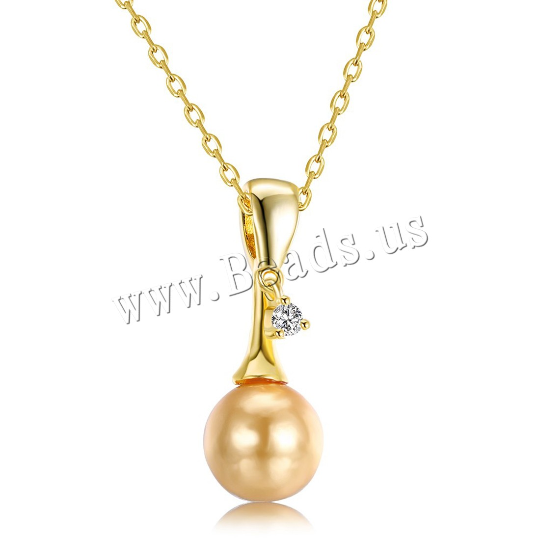 Buy Comeon® Jewelry Necklace Brass Freshwater Pearl 1.9lnch extender chain real gold plated natural & oval chain & woman & cubic zirconia nickel lead & cadmium free 11x28mm Sold Per Approx 17.7 Inch Strand