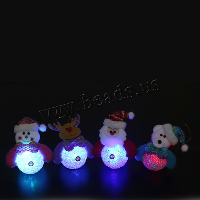 Buy Christmas Decoration EVA Plush & Metallic Cord & Plastic Christmas jewelry & different styles choice & LED 100x170mm Sold PC