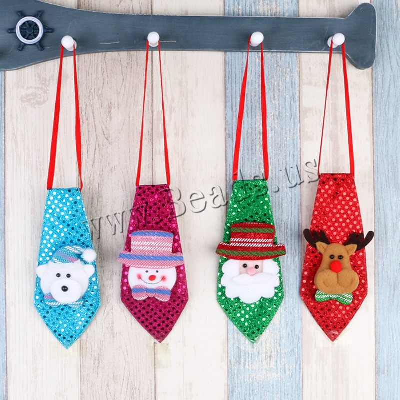 Buy Ties Cotton Plastic Sequin children & Christmas jewelry & different styles choice & LED 250x110mm Sold PC
