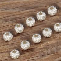 925 Sterling Silber Perlen, rund, Falten, 4mm, Bohrung:ca. 2mm, 100PCs/Menge, verkauft von Menge