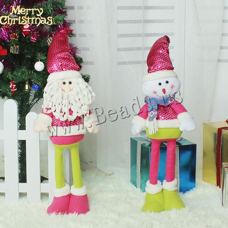Buy Non-woven Fabrics Christmas Doll Plush & Plastic Sequin retractable & Christmas jewelry & different styles choice 145x370mm 145x560mm Sold PC
