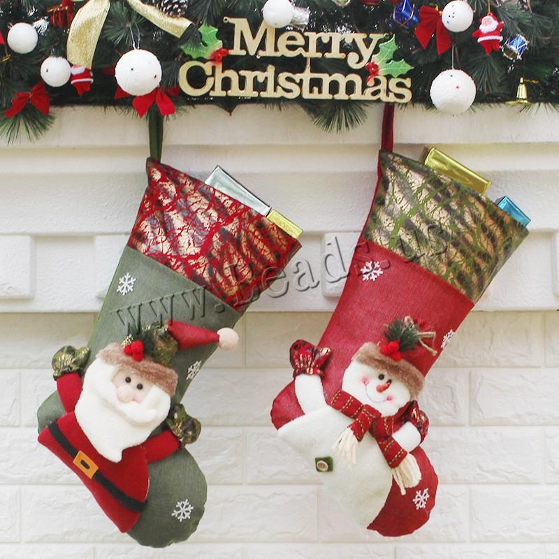 Buy Christmas Holidays Stockings Gift Socks Non-woven Fabrics Plush Christmas Sock Christmas jewelry & different styles choice 240x460x270mm Sold PC