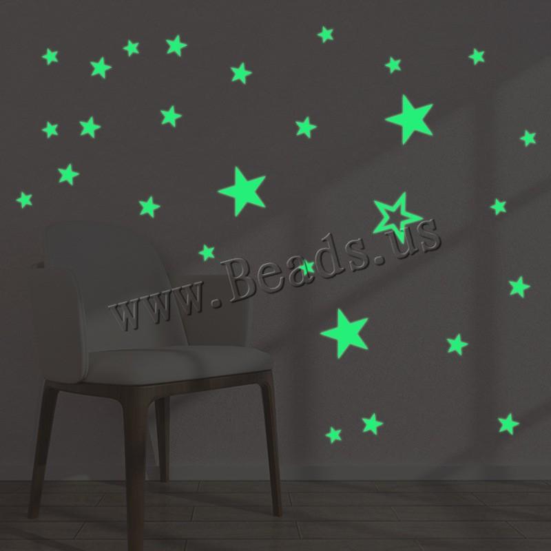 Buy Night Glow Stickers PVC Plastic Star adhesive & luminated 210x290mm 2PCs/Set Sold Set