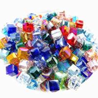 Kristall-Perlen, Kristall, verschiedene Größen vorhanden & facettierte, Bohrung:ca. 1-2mm, ca. 100PCs/Tasche, verkauft von Tasche