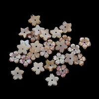 Natürliche Rosa Muschelperlen, Blume, verschiedene Größen vorhanden, Bohrung:ca. 0.8mm, 50PCs/Tasche, verkauft von Tasche
