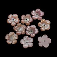 Natürliche Rosa Muschelperlen, Blume, verschiedene Größen vorhanden, Bohrung:ca. 0.8-1mm, 50PCs/Tasche, verkauft von Tasche