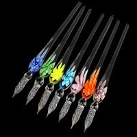 Lampwork Glas Dip Pen, handgemacht, innen Blume, keine, 17x186mm, verkauft von PC