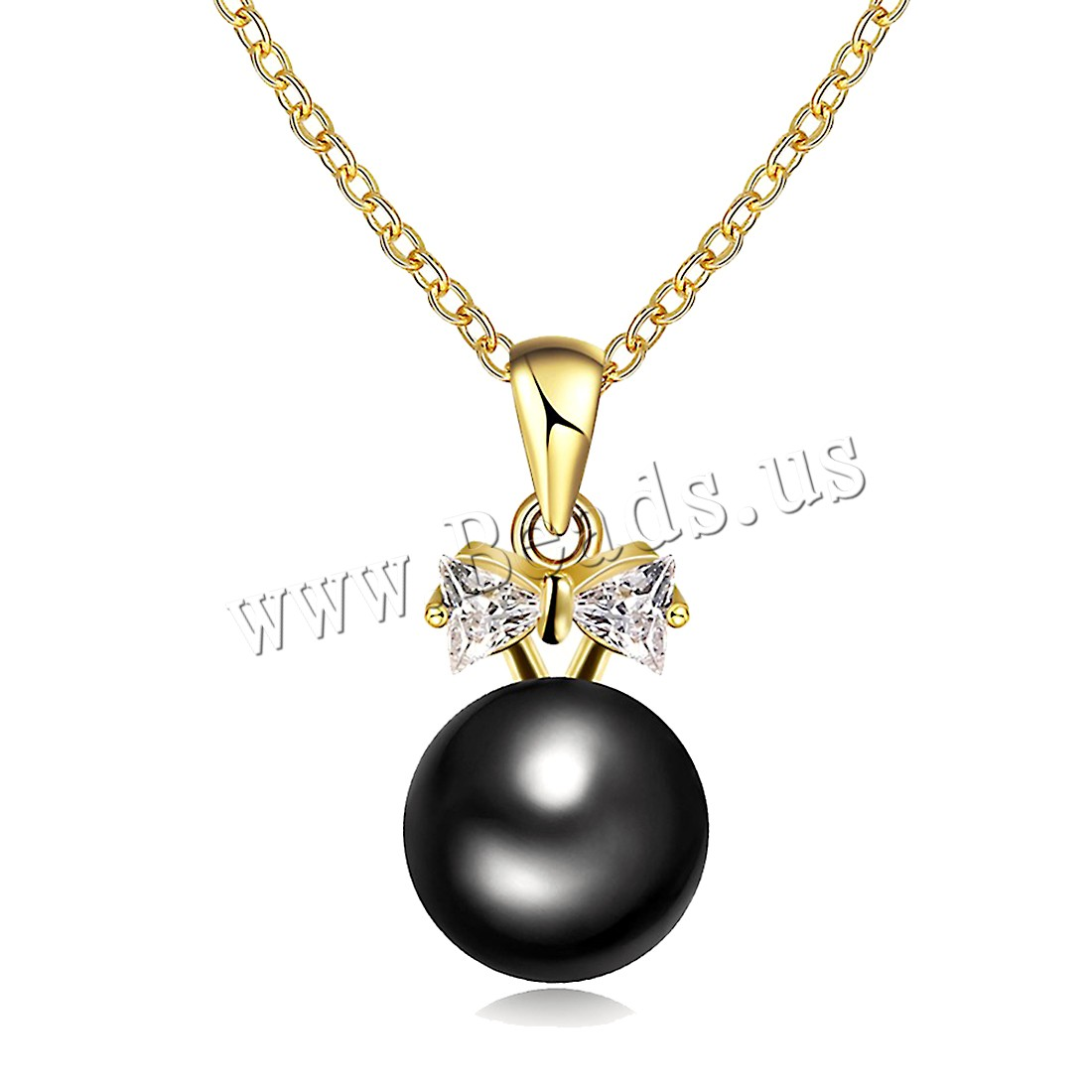 Buy Comeon® Jewelry Necklace Brass Freshwater Pearl 1.9lnch extender chain real gold plated natural & oval chain & woman & cubic zirconia nickel lead & cadmium free 9x13mm Sold Per Approx 17.7 Inch Strand