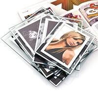 Fotorahmen, Glas, mit Karton, Rechteck, verschiedene Größen vorhanden, verkauft von PC
