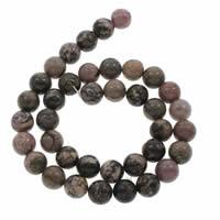 Rhodonit Perlen, rund, verschiedene Größen vorhanden, verkauft per ca. 15 ZollInch Strang