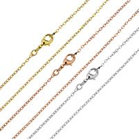 Messingkette Halskette, Messing, Oval-Kette & für Frau, keine, 2x1.70mm, verkauft per ca. 17 ZollInch Strang