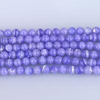 Blauer Achat Perle, rund, synthetisch, verschiedene Größen vorhanden, Bohrung:ca. 1-1.2mm, verkauft per ca. 15 ZollInch Strang