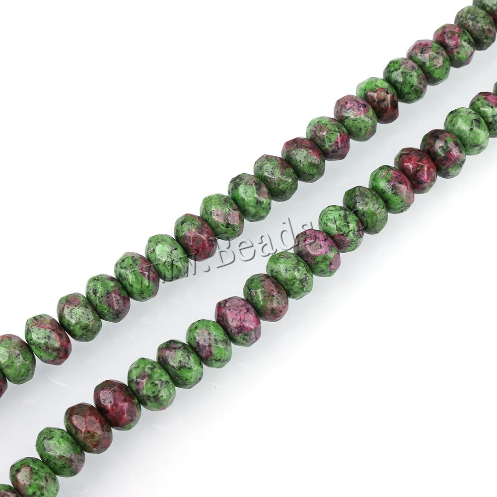 Buy Ruby Zoisite Beads Rondelle dyed 6x8mm Hole:Approx 1mm Approx 76PCs/Strand Sold Per Approx 15 Inch Strand