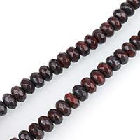 Jaspis Brekzien Perlen, Jaspis Brecciated, Rondell, aus China & facettierte, 5x8mm, Bohrung:ca. 1mm, ca. 75PCs/Strang, verkauft per ca. 15 ZollInch Strang