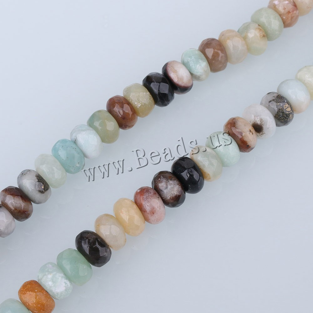 Buy Natural Amazonite Beads ​Amazonite​ Rondelle faceted 6x8mm Hole:Approx 1mm Approx 76PCs/Strand Sold Per Approx 15 Inch Strand