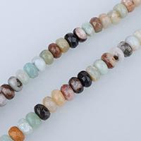 Amazonit Perlen, Rondell, facettierte, 5x8mm, Bohrung:ca. 1mm, ca. 76PCs/Strang, verkauft per ca. 15 ZollInch Strang