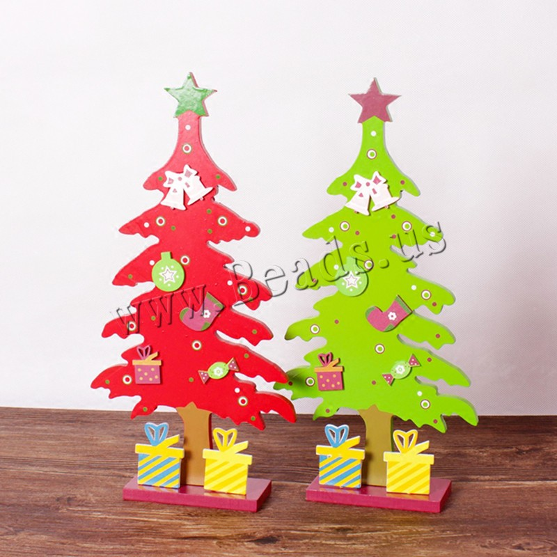Wood Christmas Decoration Ornaments Christmas Tree Need set & Christmas jewelry colors choice 150x300mm Sold PC