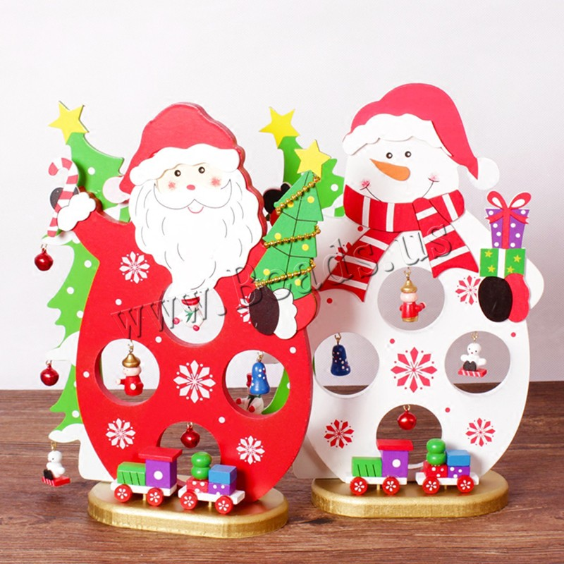 Wood Christmas Decoration Ornaments iron bell Need set & Christmas jewelry & different styles choice 180x250mm Sold Set