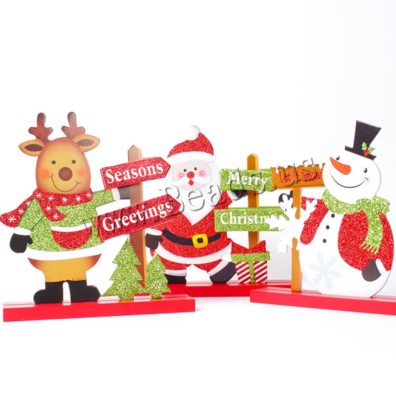 Buy Wood Christmas Decoration Ornaments Need set & Christmas jewelry & different styles choice & colorful powder 180x200mm Sold Set