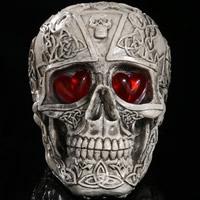 Halloween Dekoration, Harz, Schädel, Halloween Schmuck & verschiedene Stile für Wahl & LED, 150x40x115mm, verkauft von PC