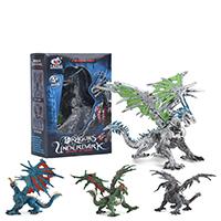 Figuren Spielzeuge, Kunststoff, Dinosaurier, drehbare & abnehmbare & für Kinder & verschiedene Stile für Wahl, 115x55x155mm, 5PCs/Menge, verkauft von Menge