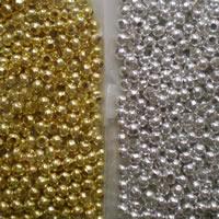 Messing Zwischenperlen, rund, plattiert, gemischte Farben, 3.2mm, Bohrung:ca. 1mm, 1000PCs/Tasche, verkauft von Tasche