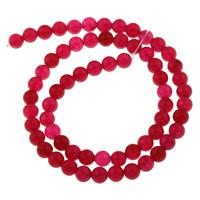 Natürliche Rosa Achat Perlen, rund, verschiedene Größen vorhanden, Grade AAAAAA, Bohrung:ca. 1mm, verkauft per ca. 14 ZollInch Strang