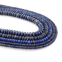 Lapislazuli Perlen, natürlicher Lapislazuli, verschiedene Größen vorhanden, Bohrung:ca. 1mm, verkauft per ca. 15.5 ZollInch Strang