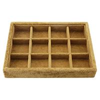 Mehrzweck-Display, Baumwollsamt, mit Karton, Rechteck, 205x155x35mm, 5PCs/Menge, verkauft von Menge
