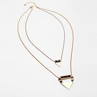 Zinklegierung Pullover Halskette, mit Unakite & Holz, plattiert, für Frau & 2 strängig, keine, frei von Blei & Kadmium, 695mm, verkauft per ca. 27 ZollInch Strang