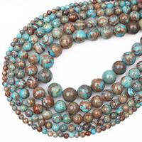 Cloisonne-Stein Perle, rund, verschiedene Größen vorhanden, Bohrung:ca. 1mm, verkauft per ca. 15.5 ZollInch Strang