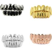 Zähne Hip Hop Schmuck, Messing, Zahn, plattiert, verschiedene Größen vorhanden, 50x10mm,40x10mm, verkauft von setzen