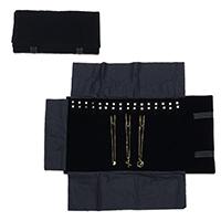 Baumwollsamt Kettenständer, Rechteck, schwarz, 560x290x5mm, verkauft von PC