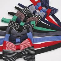 Unisex-Fliege, Polyester, Schleife, verschiedene Muster für Wahl, 12x6cm, verkauft von PC