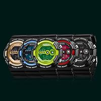 SANDA® Unisex Schmuckuhr, Gummi, mit Kunststoff Zifferblatt & Acryl, LED & wasserdicht, keine, 50x52mm, 22mm, Länge:5.5-9.5 ZollInch, verkauft von PC